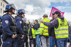 Demonstration against the French government and planned labor la Stock Images