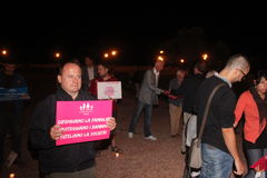Demonstration against gay families moving Manuf Pour Tous Royalty Free Stock Photos