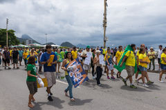 Demonstration against the government in Copacabana, Rio de Janeiro Stock Photo