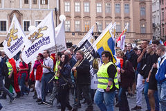 Demonstration against islamization of Europe, Prague, Czech Repu Royalty Free Stock Images