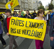 Demonstration Against Nuclear Power, Paris, France Stock Photography