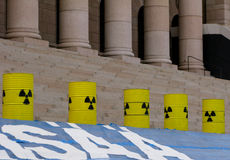 Demonstration against nuclear power stations Stock Photography