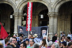 Demonstration against persecutions and atrocities in Iraq. On 10.08.2014 Stock Photography