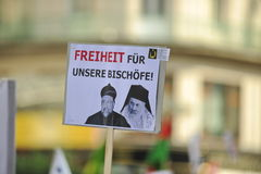 Demonstration against persecutions and atrocities in Iraq. On 10.08.2014 Stock Photos