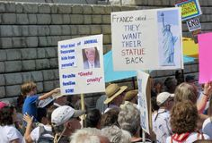 Demonstration against trump Immigration Policies royalty free stock images