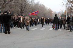 Demonstration in Armenien Stockfotografie