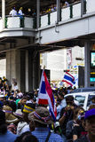 Demonstration at Asoke Bangkok Stock Photo