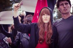Demonstration auf der Straße lizenzfreies stockfoto