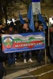 Demonstration av bulgariska poliser i Sofia som begär en 15% förhöjning i lön, för att formulera en ny lag för inrikesministeriet Fotografering för Bildbyråer