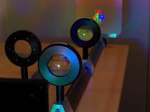 Demonstration av det optiska systemet Royaltyfria Foton