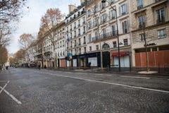 Demonstration av 'Gilets Jaunes i Paris, Frankrike royaltyfri fotografi