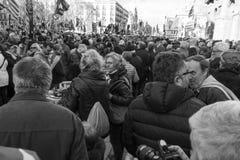 Demonstration av politiska fångar i Barcelona Royaltyfri Foto