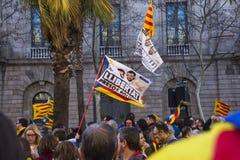 Demonstration av politiska fångar i Barcelona Royaltyfria Foton