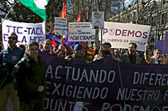 Demonstration in behalf of PODEMOS 8 Stock Images