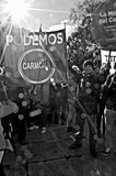 Demonstration in behalf of PODEMOS 9 Royalty Free Stock Images