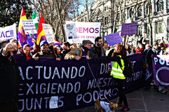 Demonstration in behalf of PODEMOS 11 Royalty Free Stock Images