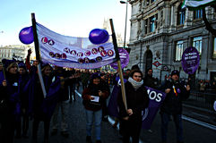 Demonstration in behalf of PODEMOS 19 Stock Photo