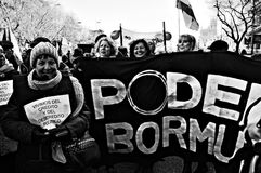 Demonstration in behalf of PODEMOS 20 Stock Images