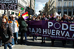 Demonstration in behalf of PODEMOS 24 Royalty Free Stock Image