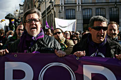 Demonstration in behalf of PODEMOS 25 Royalty Free Stock Photo