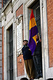 Demonstration in behalf of PODEMOS 26 Royalty Free Stock Images
