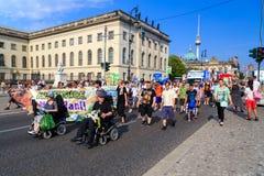 Demonstration in Berlin Stockbild