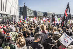 Demonstration in Berlin Royalty Free Stock Photo