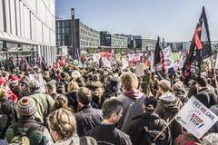Demonstration in Berlin Royalty Free Stock Photo