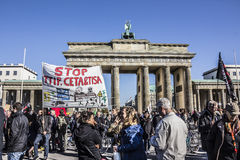 Demonstration in Berlin Royalty Free Stock Images