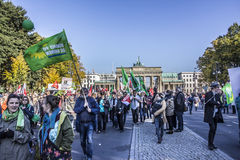 Demonstration in Berlin Stock Images