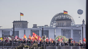 Demonstration in Berlin Royalty Free Stock Photography
