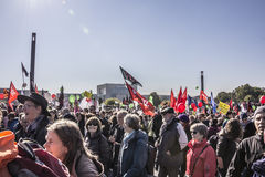 Demonstration in Berlin Stock Image