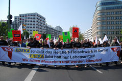 Demonstration in Berlin on May Day Royalty Free Stock Image
