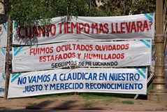 Demonstration in Buenos Aires, Argentina Royalty Free Stock Image
