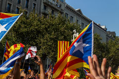 Demonstration in Catalonia Stock Photography