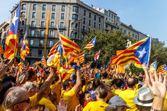 Demonstration in Catalonia Royalty Free Stock Photo
