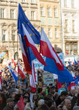 The demonstration of the Committee of  Protection of the Democracy /KOD/ Stock Image