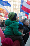 The demonstration of the Committee of  Protection of the Democracy /KOD/ Stock Photo