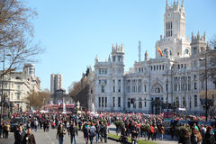 Demonstration of Communist Party at Cibeles Square Stock Photography