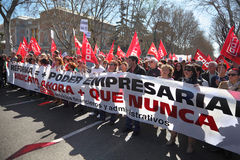 Demonstration of Communist Party of Spain Royalty Free Stock Photos