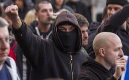 Demonstration der Partei der Arbeitskraft in Ostrava Lizenzfreies Stockfoto