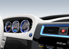 Demonstration of  electric car console design. Stock Photo