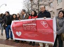 Demonstration för frivillig avslutning av havandeskap I Royaltyfri Foto