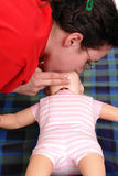 Demonstration för konstgjord respiration Arkivbild