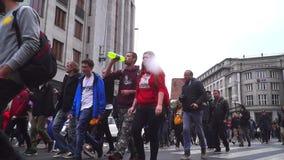 Demonstration f?r legaliseringen av marijuana, marsch av miljoner f?r marijuana i Prague 2019 arkivfilmer