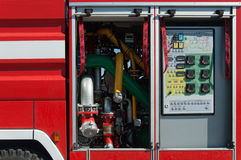 Demonstration of fire equipment Royalty Free Stock Photo