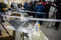 Demonstration of the first Ukrainian production drones Stock Photography