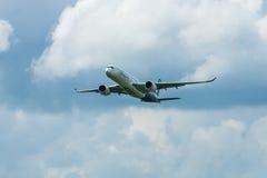 Demonstration flight Airbus A350 XWB. Royalty Free Stock Photography