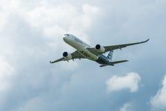 Demonstration flight Airbus A350 XWB. Stock Photos