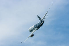 Demonstration flight Airbus A350 XWB. Royalty Free Stock Images
